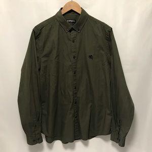 Express Large Shirt 16-16 1/2 Military Green
